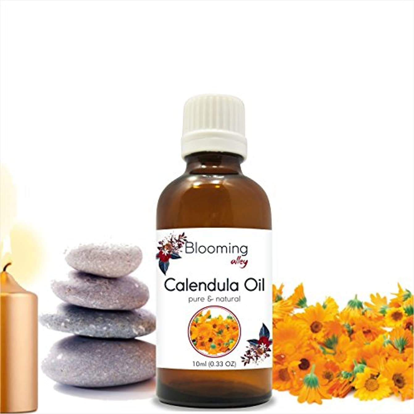 を除く旅つらいCalendula Oil (Calendula Officinalis) Essential Oil 10 ml or 0.33 Fl Oz by Blooming Alley