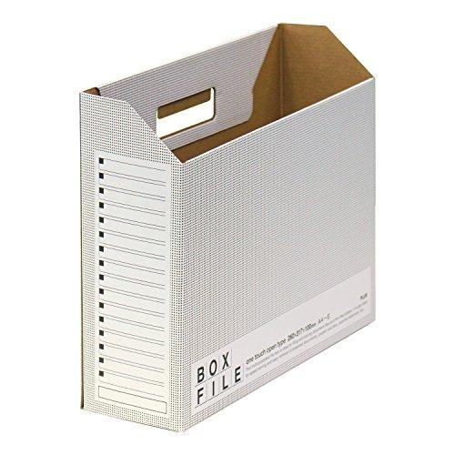 プラス ファイルボックス エコノミー 10冊 A4横 背幅100mm 553-989 ダークグレー