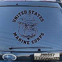 ブルドッグDevil犬デカールステッカーUSMC United States Marine Corps車ビニールPickサイズカラーDie Cut 12'' (30.5cm) ブラック 20180314s2