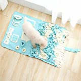 Lemonda 犬用スヌースマット 鼻づまりマット ペット餌マット ノーズワーク NOSEWORK 分離不安解消、ストレス解消、おやつ遊び、嗅覚遊び、集中力向上、感覚発達の遊び、ペット、遊び、 (60x100cm, グリーン)