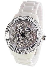 アンコキーヌ AnneCoquine 【ミニ】 セラミッククロス【ホワイト】 1119-0101  腕時計 グルグル時計 ぐるぐる時計