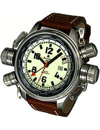 エアロマチック1912 腕時計 パイロットディフェンダー ワールドツアー GMT アラーム A1326 並行輸入品