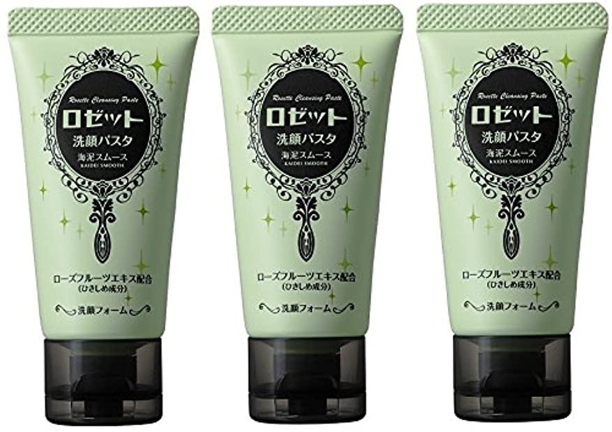 アルネルーハプニング【まとめ買い】ロゼット 洗顔パスタ海泥スムースミニ 30g×3個