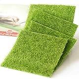 Fairy Artificial Grass Artificial Garden Grass Ornament Garden Dollhouse 6''x 6'' 4 PCS