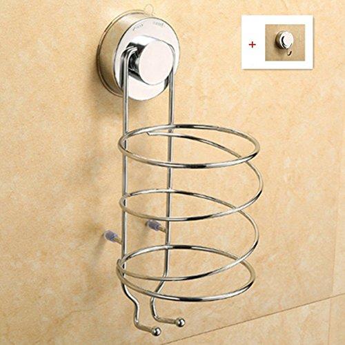 キッチンペーパーホルダー 強力 吸盤 洗面所 壁掛け 用 キッチン 浴室 棚 壁掛け式ヘアドライヤー...