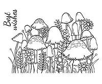 きる花シリコーンゲルタイムスタンプ(2ks),Woodware,Scrapbooking紙
