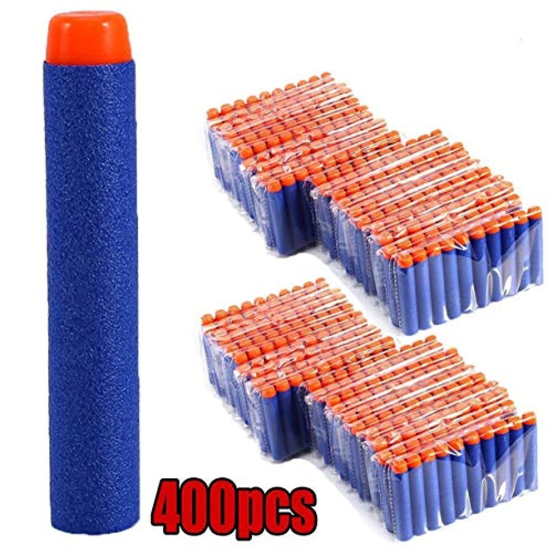 400ピース/セットソフト弾丸ダーツラウンドヘッド詰め替えスポンジダーツ安全キッズ玩具銃弾用NERF Nストライクブラスターズ - ブルー-1サイズ