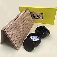 囲碁セット 新桂7号折碁盤と碁石新生竹(厚み約9mm)と銘木大のセット