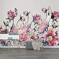 Wxmca カスタム写真の壁紙3Dバラの花蝶の壁画リビングルームの結婚式の家の背景の壁絵画の装飾-250X175Cm