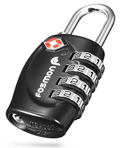 Fosmon (1個) TSAロック 4桁ダイヤル式ロック 南京錠 鍵 海外旅行 荷物スーツケース用