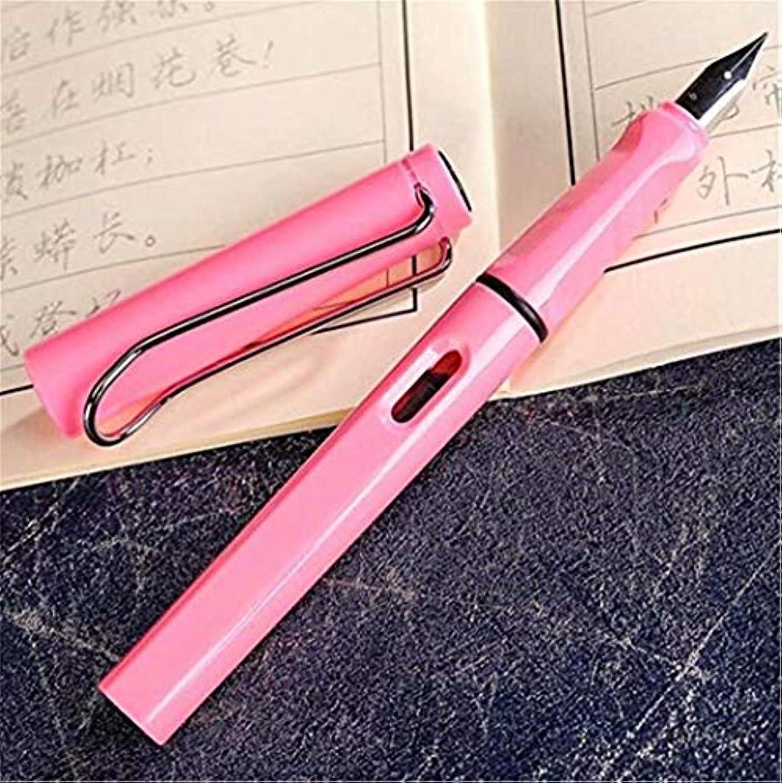 パニック機転落ち着いた七里の香 ミリメートルストレートペン先のインクリフィル万年筆、ブラックゴールドトーン …