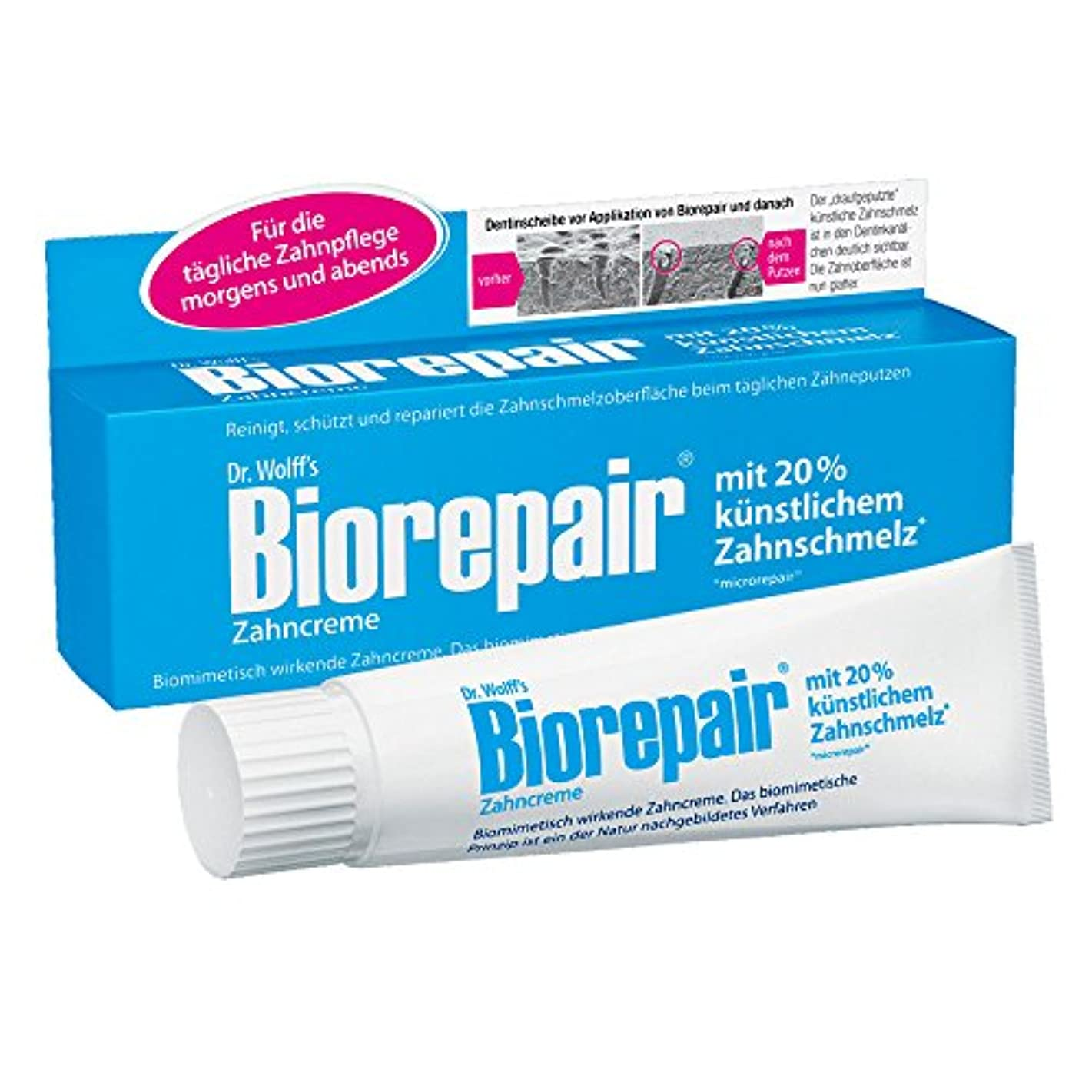 気怠い心理学陽気なBiorepair 歯磨き粉オリジナル、75ml(1pack) 歯の保護 耐摩耗性 1pack [並行輸入品]
