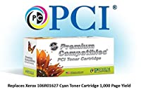 Premium Compatibles Inc. 106R01627-PCI Ink and Toner Replacement Cartridge for Xerox Phaser Printers, Cyan [並行輸入品]