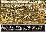 フジミ模型 1/700 特シリーズ No.45EX-101 日本海軍重巡洋艦 高雄用 エッチングパーツ(w/艦名プレート) プラモデル用パーツ 特45EX-101