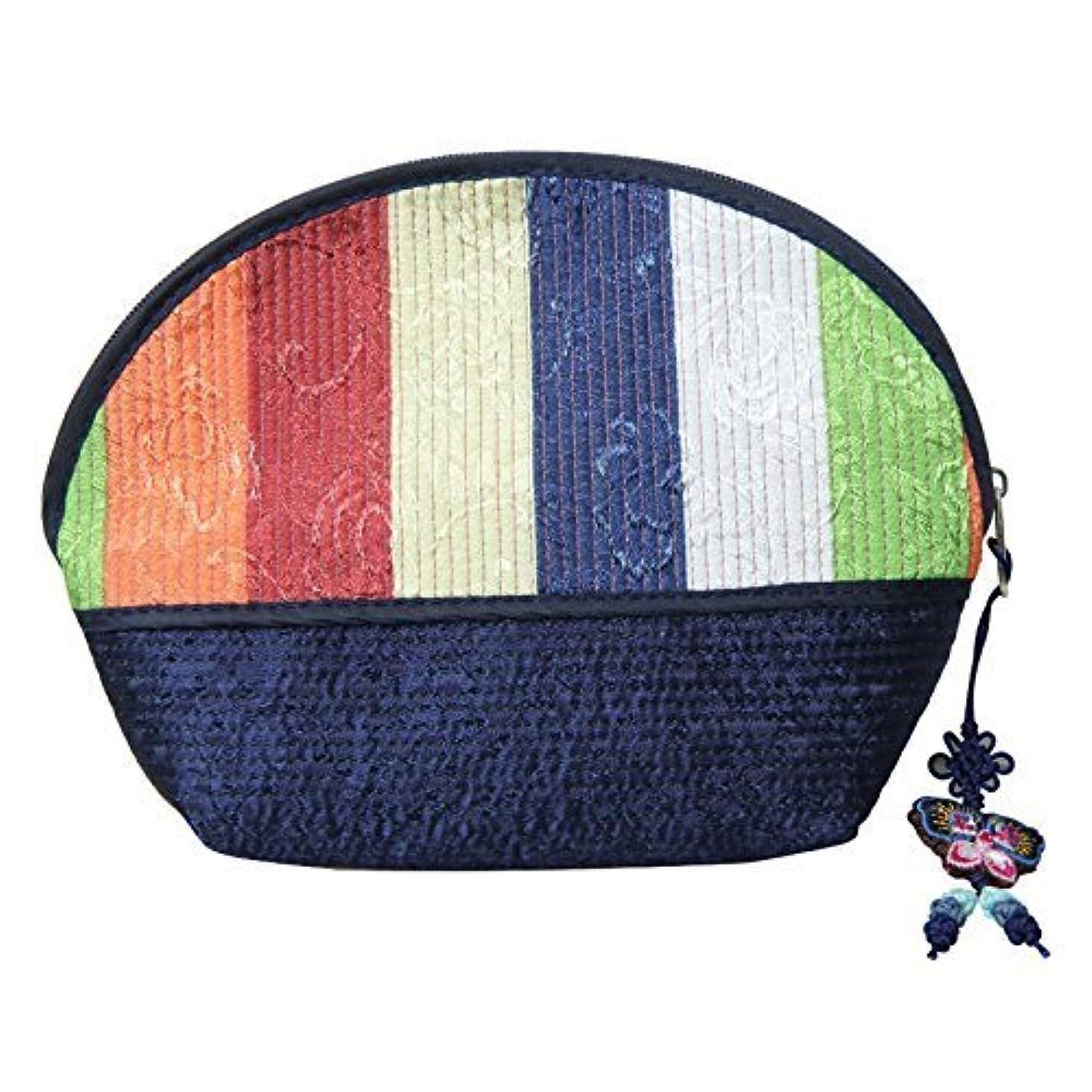 特派員中間気をつけてCosmetic Pouch Navy / 韓国の伝統的なパターン/韓国のお土産の贈り物 [並行輸入品]