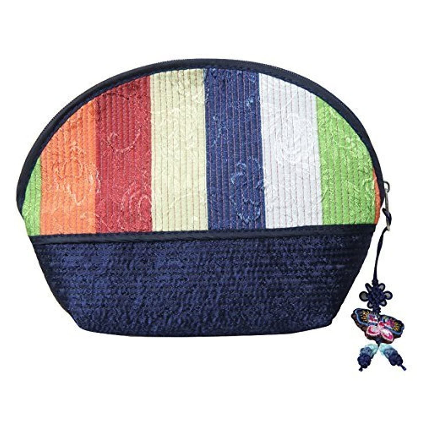 Cosmetic Pouch Navy / 韓国の伝統的なパターン/韓国のお土産の贈り物 [並行輸入品]