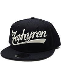 【Z16US024】 ゼファレン Zephyren キャップ スナップバック 帽子 CAP 刺繍 定番 ロゴ トライバル ツバ裏プリント アメカジ 正規品 黒白