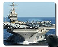 ステッチエッジ付きマウスパッド、軍用USS Abraham Lincoln(CVN 72)軍艦滑り止めラバーマウスパッド