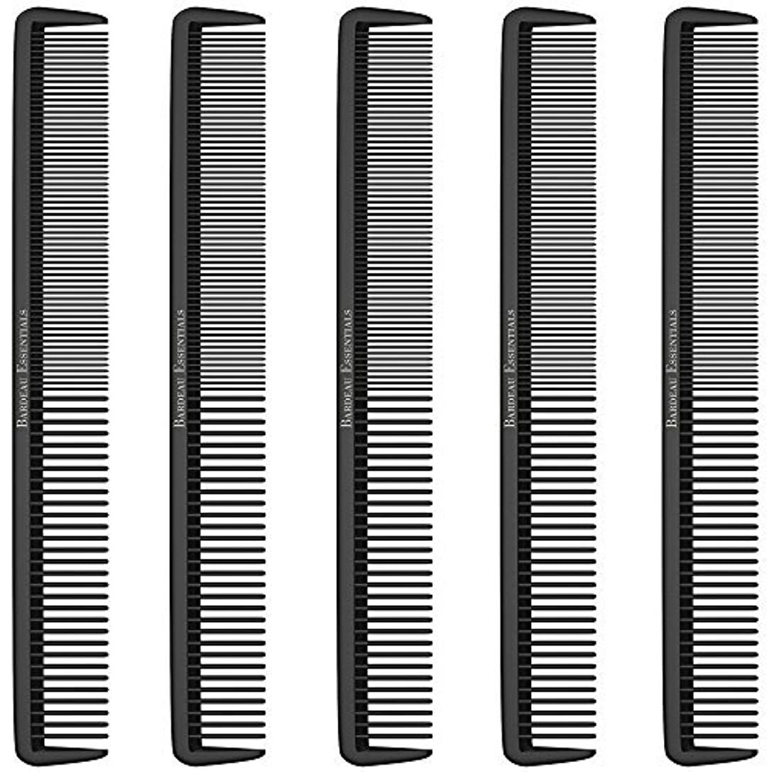 不運責任予測Styling Comb (5 Pack) - Professional 8.75  Black Carbon Fiber Anti Static Chemical And Heat Resistant Hair Combs...