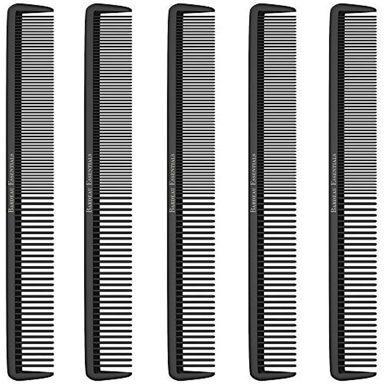 連続した通り抜ける凝視Styling Comb (5 Pack) - Professional 8.75  Black Carbon Fiber Anti Static Chemical And Heat Resistant Hair Combs...