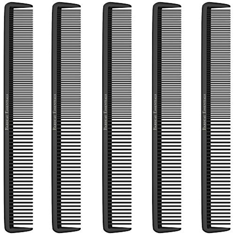 会議おめでとうトレースStyling Comb (5 Pack) - Professional 8.75  Black Carbon Fiber Anti Static Chemical And Heat Resistant Hair Combs...