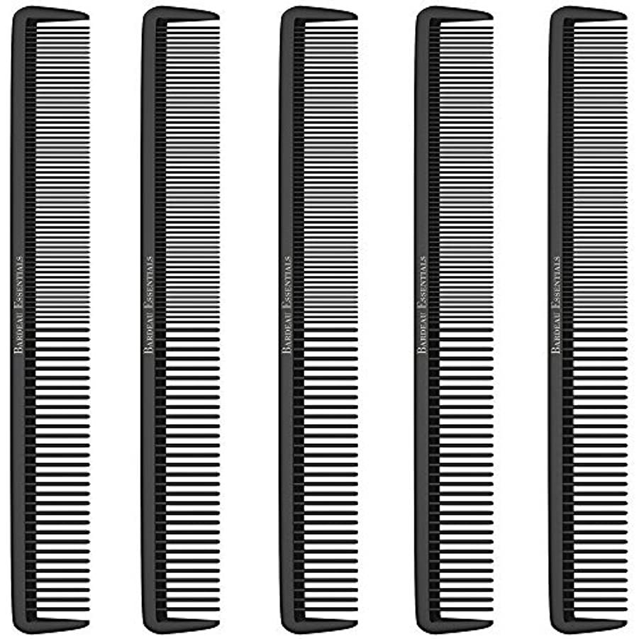 共感する水銀の思いやりのあるStyling Comb (5 Pack) - Professional 8.75  Black Carbon Fiber Anti Static Chemical And Heat Resistant Hair Combs...