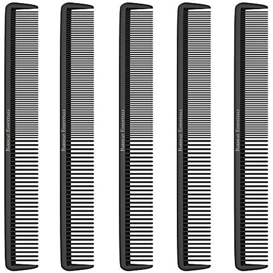 飲食店慈善忌まわしいStyling Comb (5 Pack) - Professional 8.75  Black Carbon Fiber Anti Static Chemical And Heat Resistant Hair Combs...