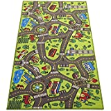 Extra Large 79 x 40! Kids Carpet Playmat Rug City Life -Great For Playing With Cars & Toys - Play Safe Learn Educational & Have Fun -Ideal Gift For Children Baby Bedroom Play Room Game Play Mat Area