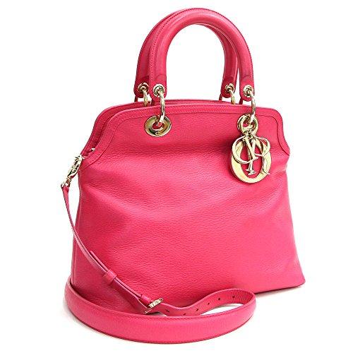Dior(ディオール) 2WAYハンドバッグ グランヴィル ピンク レザー 中古 革 フューシャピンク チャーム レディース ショルダーバッグ Christian Dior [並行輸入品]
