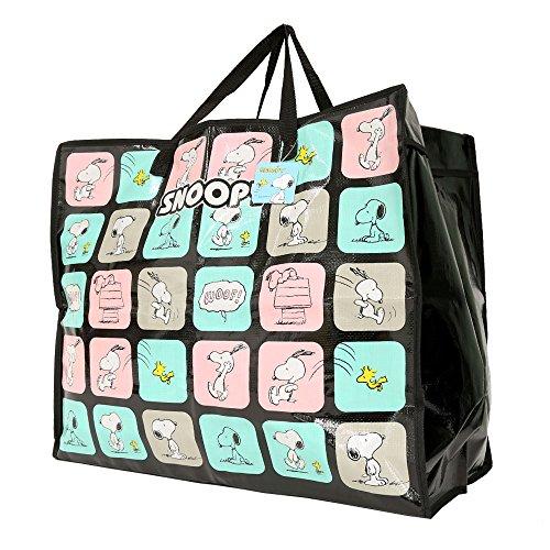 【スヌーピー】大型収納バッグ + ミニタオル セット カバン ピーナッツ アウトドア 2色 キャラクター (スヌーピー 2)