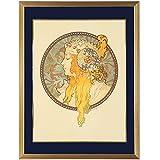 アルフォンス・ミュシャ『ビザンチン風の頭部 -ブロンド-』リトグラフ・人物画・【版画・絵画】【B1024】