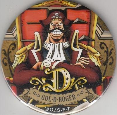 ワンピース 輩缶バッジ PINK&GOLD ゴール・D・ロジャー