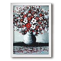 CGQ 絵 風景 フォトフレーム アートパネル アートフレーム 花 手書き 油絵 植物画 フレーム装飾画 壁掛け おしゃれ ウォールアート 絵 玄関 廊下 30*40cm