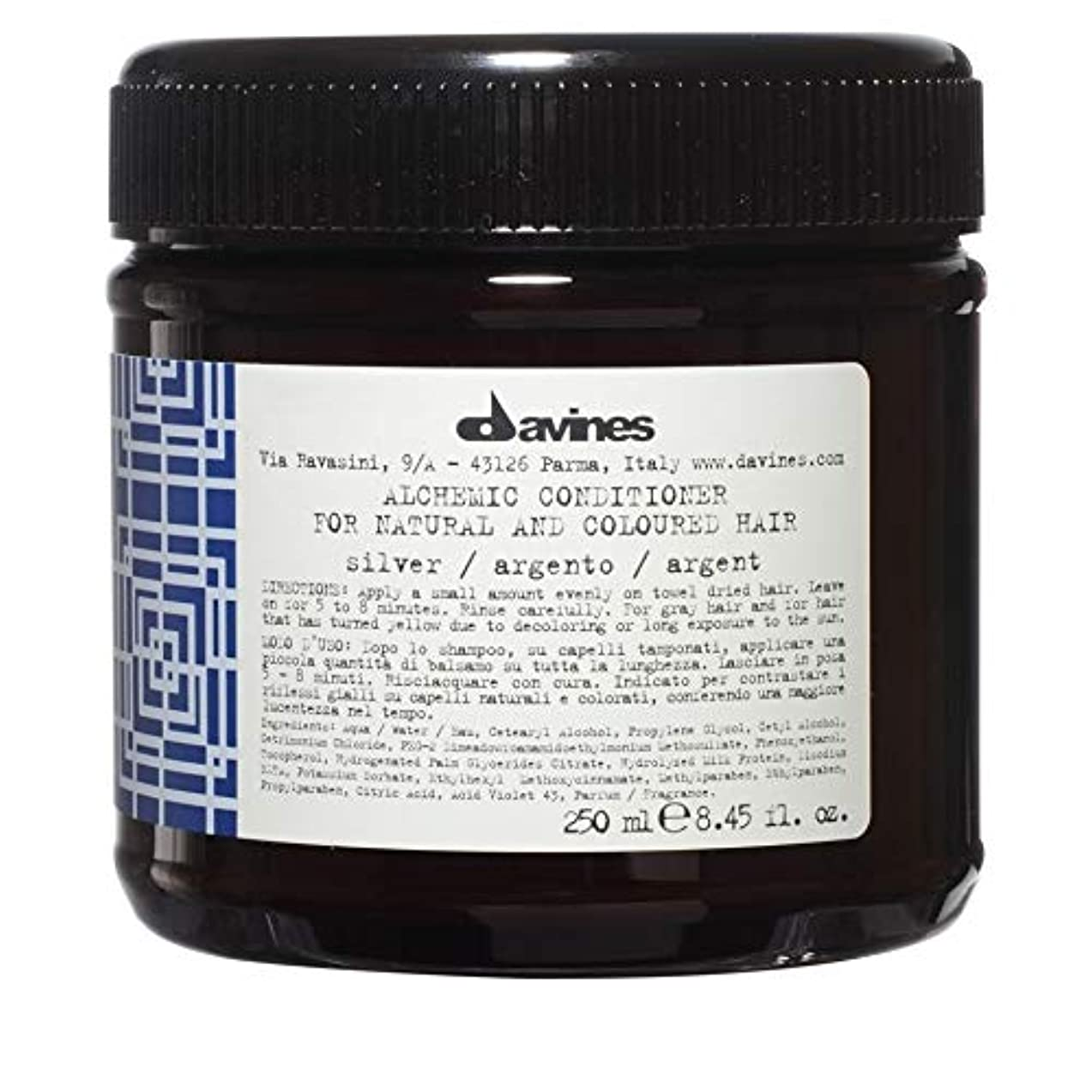めんどり適用する民族主義[Davines ] ダヴィネス錬金術銀コンディショナー250Ml - Davines Alchemic Silver Conditioner 250ml [並行輸入品]