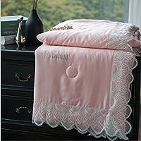 夏布団ライトクールLESEL夏キルトラグジュアリーTencel夏毛布サイズ200230 /220240 cm (カラーグリーン、ピンク、ホワイト) 220*240 ピンク