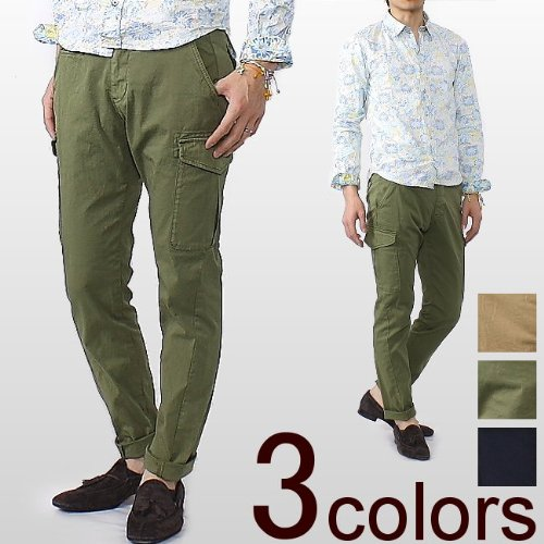 QUERCIA MEN'S CARGO PANTS クエルチア メンズ カーゴパンツ MSL12S542 (3color) ソリード