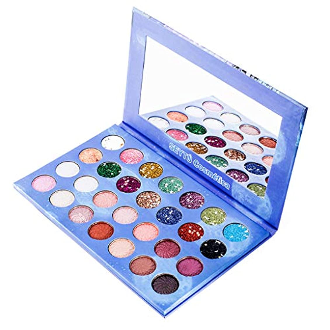 と闘う並外れた電池28色シマーマットアイシャドウアイシャドウパレットプロ化粧品メイクアップツール