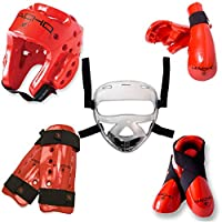 Macho Dyna 8Piece Sparring Gear Set with Shin Guards andフェースシールド