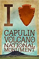 I Heart Capulin Volcano National Monument、新しいメキシコ 24 x 36 Giclee Print LANT-50432-24x36