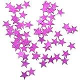 Blesiya 紙吹雪 スター 星 ベビーシャワー 誕生日 お祝い ウェディング サプライズパーティー 2色選べる  - ローズ