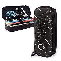 抽象的な星空 文具バッグ ペンケース 万年筆ケース 筆箱 筆入れ ペンホルダー ペンポーチ 文具ケース 文具ホルダー 大容量 学生 男女兼用