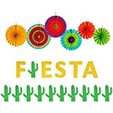 Fiesta Banner Cacti Garlands Colorful Paper Fans Cino De Mayo Party Supplies [並行輸入品]