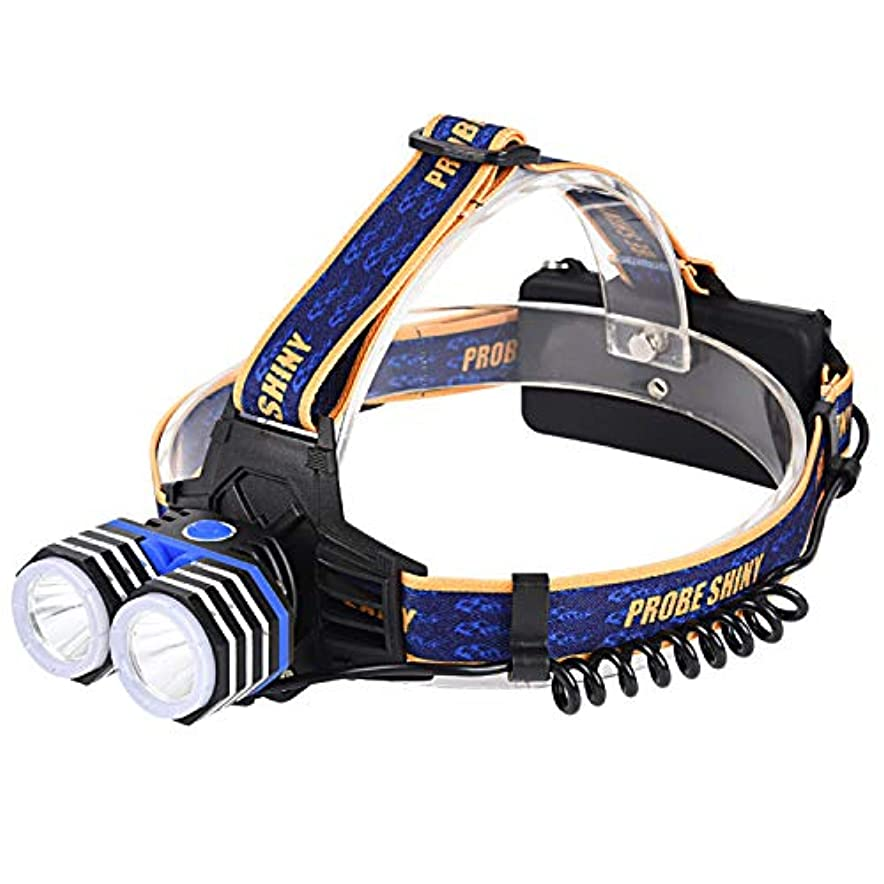 連結する麺コークス懐中電燈、T6 LEDの強いヘッドライトをつける固定焦点のアルミ合金