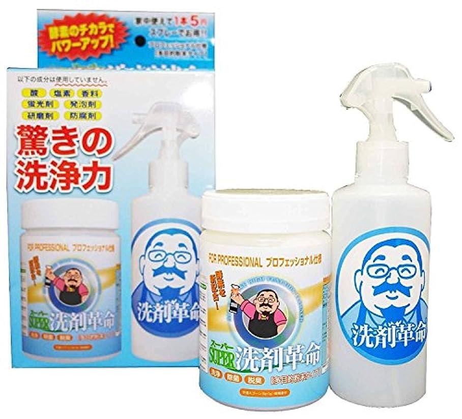 専門知識に対して不従順酵素入り洗剤 SUPER洗剤革命 300gセット 【5個セット】 + サン?クロレラ サンプル付き
