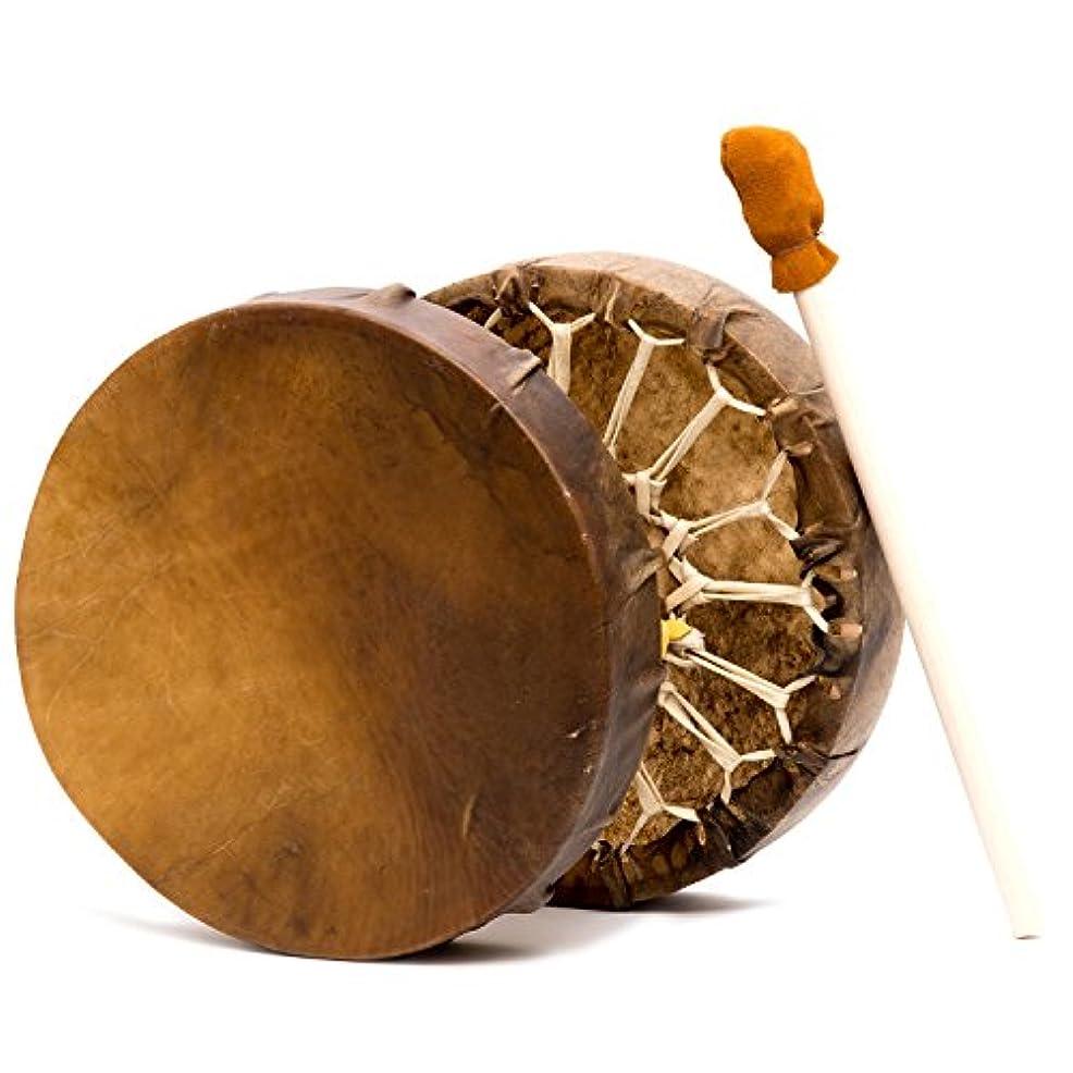 真鍮緩やかな慈悲深いShamans Market ネイティブアメリカンスタイル バッファローハイドフレーム ハンドドラム 15インチ