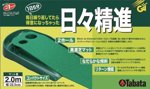 Tabata(タバタ) ゴルフ練習パターマット パターマット(2ホールタイプ)【マットサイズ:2,000×225mm】 GV0129