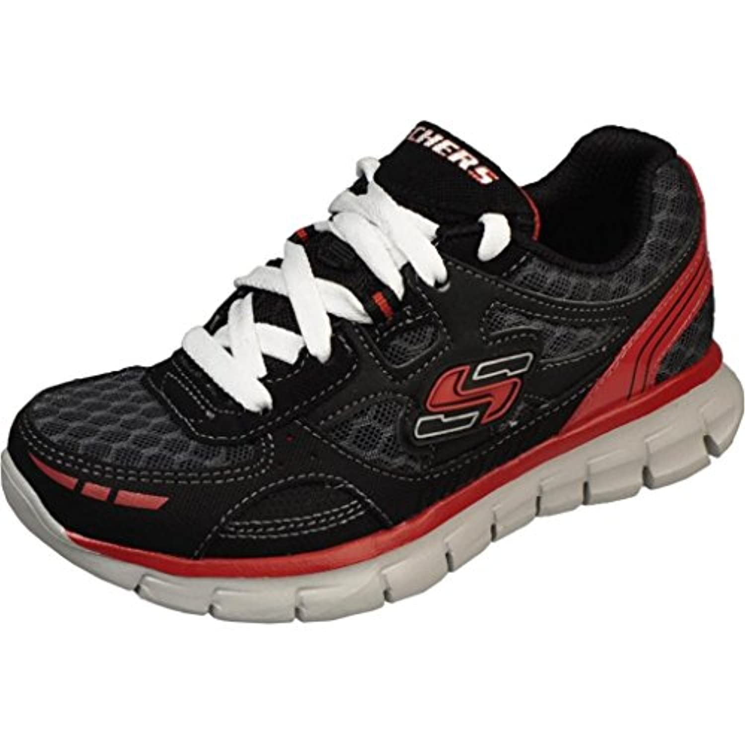 Skechers Boys Youth Synergy – Power PULSEブラック/レッドRunning Shoes