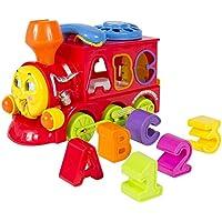 Learning Toy Trainライトと音楽ブロック文字形状ソーター