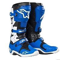 Alpinestars Tech 10Boots、ブルー/ホワイト、サイズ: 8201007728