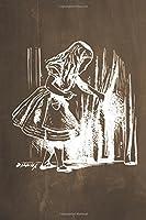 Alice in Wonderland Chalkboard Journal - Alice and the Secret Door, Brown